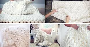 diy blanket easy diy chunky knit blankets to cozy up with homelovr
