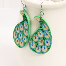niobium earrings peacock paisley niobium earrings modern honeysquilling