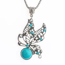 necklace butterfly images Qcooljly vintage butterfly necklace tibetan silver design lady jpg