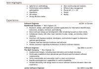 software engineer resume format experienced new sample resume