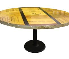 Wine Barrel Fire Pit Table by Vintage Dining Table U2013 Round Vita Vino U2013 Wine Barrel Fire Pits