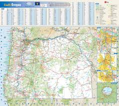 map of oregon state parks large roads and highways map of oregon state with national parks