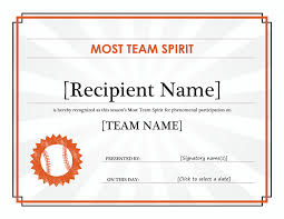 team spirit award certificate editable title office templates