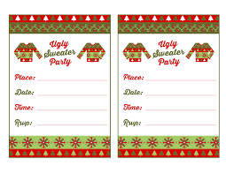 free printable ugly sweater party invitations printable invitations