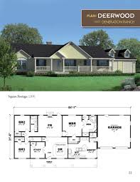 3 bedroom modular home floor plans the deerwood ranch style home 1890 square feet 3 bedrooms 2 baths