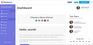 menu templates for bootstrap best 13 free bootstrap 4 admin templates