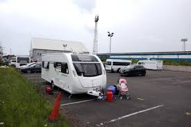 Car Park by Travellers Find New Pitch On Hartlepool United Football Club U0027s Car