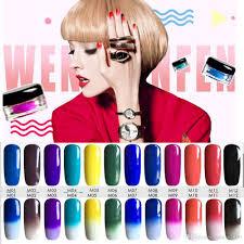 set color changing powder thermochromic powder nail art shinning