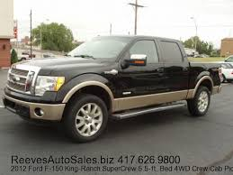 ford f150 for sale 2012 2012 ford f 150 king ranch supercrew 4wd for sale at reeves auto