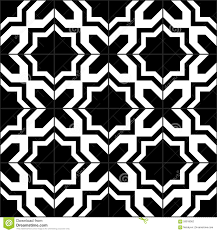 moroccan tile black and white moroccan tiles seamless pattern vector