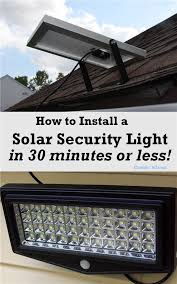 how to install security light condo blues how to install a solar security light