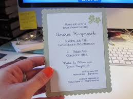 diy bridal shower invitations andrea s wedding diy shower invitations card stock scissors