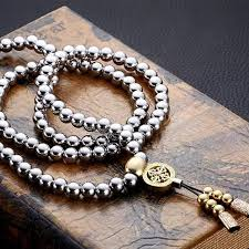 bead necklace bracelet images Personal protection self defense tool buddha beads necklace chain jpg
