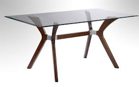 Rectangle Glass Dining Room Tables Walnut Dining Table With Tempered Rectangular Glass Top New