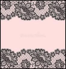 black lace ribbon black lace ribbon card stock vector illustration of element