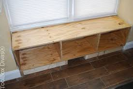 Built In Window Bench Seat Diy Window Bench Seat With Drawer Storage Hometalk