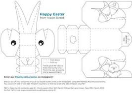 3d easter bunny printable kids craft room