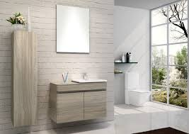 Custom Made Bathroom Vanity Hanging Bathroom Vanity Custom Made Grey Color Plywood Board Wall