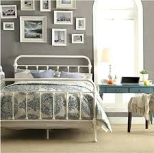 Antique White Metal Bed Frame Style Bed Frame Inspire Q Antique White Graceful Lines