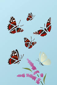 admiral butterfly stencil 1 henny donovan motif