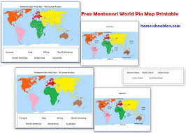montessori geography activities free montessori world map
