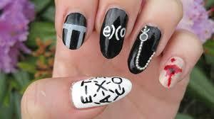 exo monster nail art youtube
