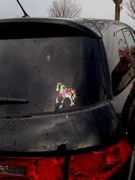 Flag Car Decals Maryland Flag Trotting Horse Decal