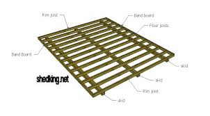 shed floor plans shed floors band boards joists skids and more shed floor