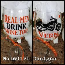 wine glass decorated nolagirl design