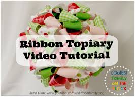 How To Make Ribbon Topiary Centerpieces by Ribbon Topiary Video Tutorial Centerpiece Coolest Family On