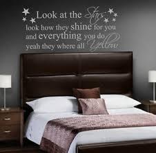 bedroom lyrics coldplay yellow quote vinyl wall art sticker decal mural bedroom