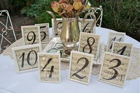 Vintage Table Number Holders The Polka Dot Closet Wedding Table Center Pieces