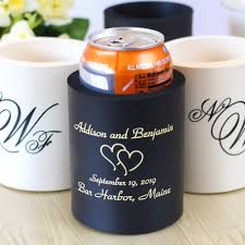wedding can koozies personalized wedding koozie
