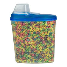 stor all large 23 75 cup cereal keeper food storage plastic