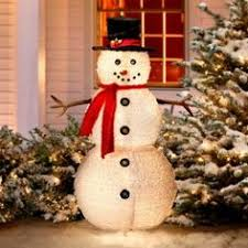 snowman decorations lofty idea outdoor christmas snowman decorations lighted chritsmas