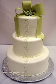 one stop wedding white and green wedding cakes