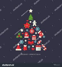 flat christmas ornaments icon set stock vector 511951765