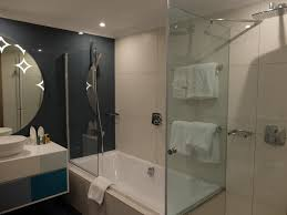 review hilton malta panorama suite hotel reviews the bathroom situated behind the bedroom was very spacious with a bath tub and a separate shower box