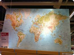 Large World Map Canvas by First Home Makeover December 2010