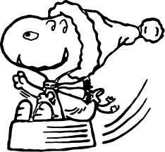 christmas snoopy coloring wecoloringpage