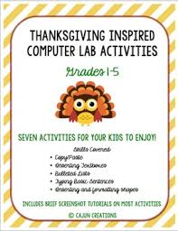 thanksgiving computer lab activities by cajun creations tpt