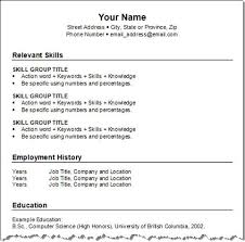 Format For A Resume Example by Get Your Resume Template Three For Free Squawkfox