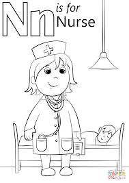 n is for nurse coloring page within coloring pages eson me
