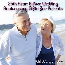 25th anniversary gifts for parents 25th year silver wedding anniversary gifts for parents gift