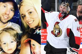 Senators Wife Nhl Goalie U0027s Shutout After Wife U0027s Cancer Diagnosis Leaves Not A