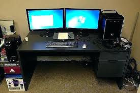 Dual Monitor Computer Desks Dual Monitor Desks Top S Dual Monitor Computer Desk Plans