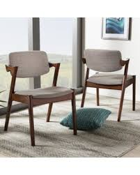 Modern Walnut Dining Chairs Shopping Special Carson Kouvola Upholstered