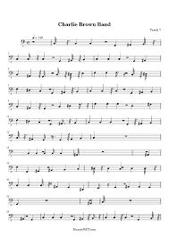 charlie brown thanksgiving theme charlie brown band sheet music charlie brown band score