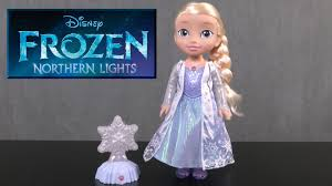 disney frozen northern lights elsa music and light up dress disney frozen northern lights elsa from jakks pacific youtube