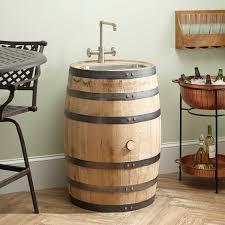 Whiskey Barrel Kitchen Table Edison Whiskey Barrel Bar Sink Narrow Stainless Steel Sink Kitchen